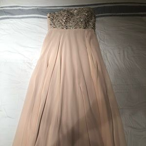 Iike new Xscape blush full length gown